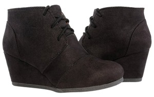 Marco Republic Wedges Vegan Leather BLack Boots