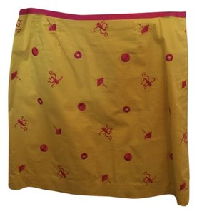 Lilly Pulitzer Skirt Yellow and Hot Pink