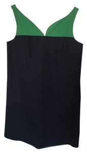 J.Crew short dress Navy and Green on Tradesy