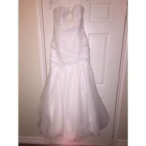 Mori Lee Ivory Tulle Organza Sexy Wedding Dress Size 14 (L)