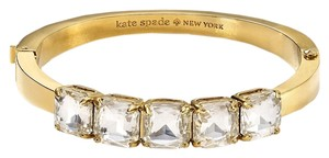 Kate Spade Modern Sensibility! Kate Spade Squared Away Gold Hinged Bracelet NWT Captures a Modern Flare with Bold Style!