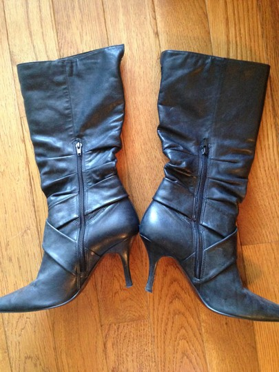 Ciella Genuine Leather Leather Black Boots