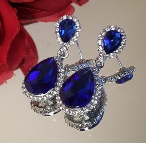 Blue Sapphire Tear Drop Earrings