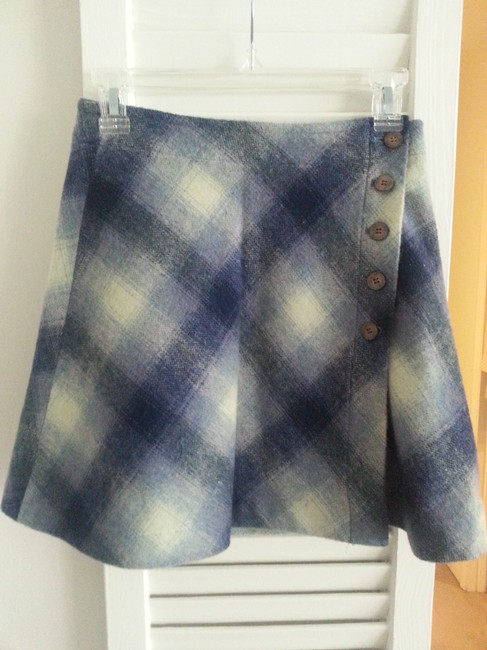 African Beat Club Mini Skirt Blue, color