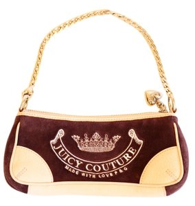 Juicy Couture Vintage Leather Velvet Shoulder Bag