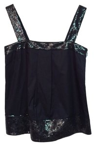Theory Tressia Sequin Cami Top Black