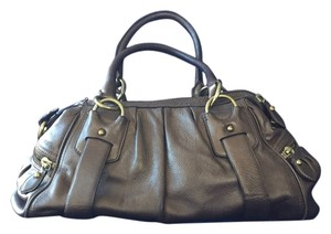 Banana Republic Satchel in Metallic Bronze/ Brown