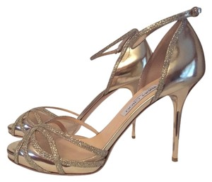Jimmy Choo Heels Sandals Gold Pumps