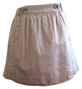 Ett twa - Anthropolgie Linen Cotton Blend Shimmer Mini Skirt Silver/gray
