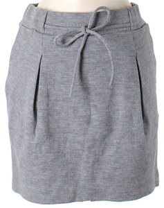 Calypso St. Barth Wool Mini Skirt Grey