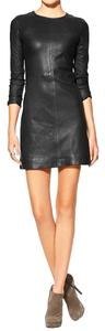 Marc by Marc Jacobs Leather Stretch Moto Dress
