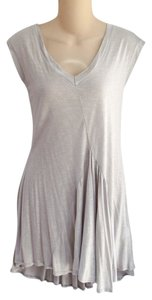 Ariella L Paneled Flowy Knit Tunic New Top Light Gray