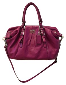 Coach Leather Pink Madison Juliette Crossbody Satchel in Magenta