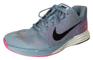 Nike Womens Lunarglide Workout Light Armory Blue/Bright Citrus/Pink Pow/Black Athletic