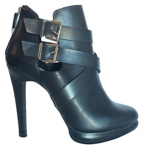 Zara Sexy Leather Silver Hardware Black Boots