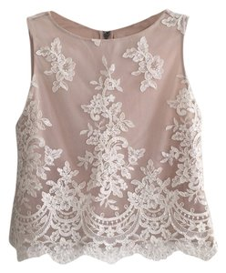 Alice + Olivia Top Cream/Nude