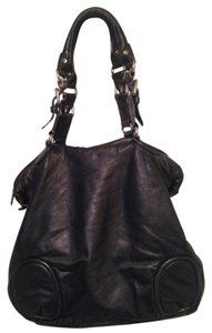 Cynthia Rowley Leather Genuine Leather Satchel in Black