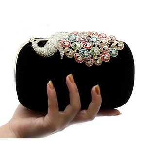 Peacock Diamond Clutch Bag