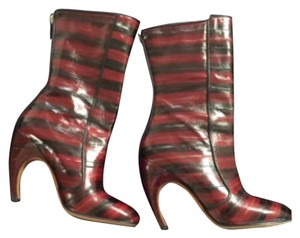 Givenchy Red and Black Boots