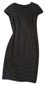 Ann Taylor short dress black and white stripes on Tradesy