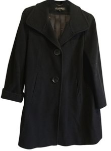 Ellen Tracy Winter Wool Decorative Top Stitching Pea Coat