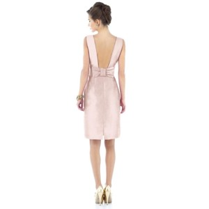 Alfred Sung Pearl Pink Boatneck Sheath Style #d522 Dress