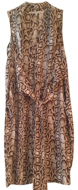 Rachel Roy short dress Brown and cream on Tradesy