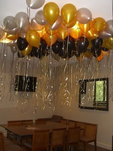"Gold 48 Pcs - 12"" Metallic Birthday Party Decor Latex Balloons Ceremony Table Top Ceiling Arch Centerpiece"