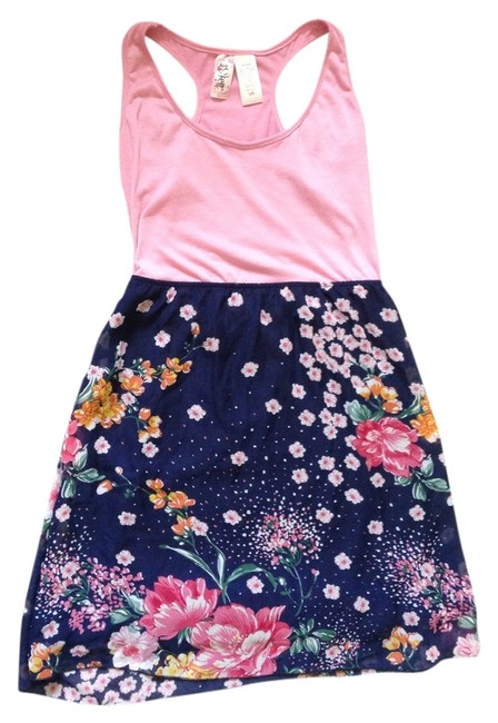 Item - Multicolored Summer Floral Above Knee Short Casual Dress Size 12 (L)