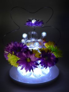 24 Pieces - White Table Centerpieces Indoor Outdoor Decoration Led Lights Vase Submersible Floating Lamps Fairy Balls
