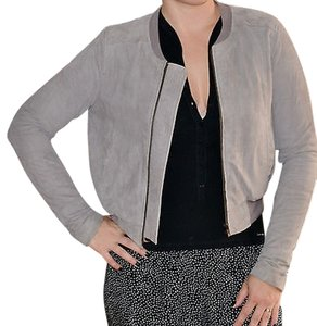 Joie gray Leather Jacket