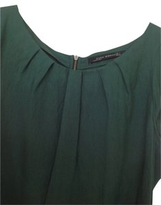 Zara Top Hunter Green