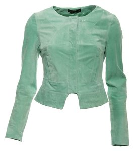 SuperTrash Turquoise Leather Jacket