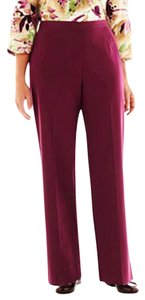 Alfred Dunner Casual Pockets Elastic Trouser Pants Merlot