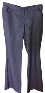 Express Trouser Pants Gray Pinstripe
