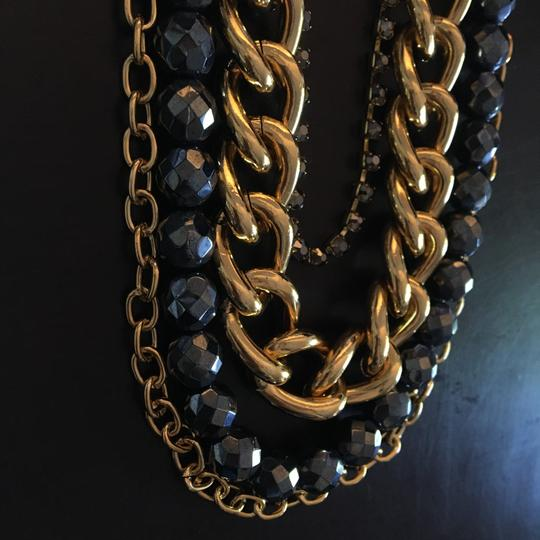 JEWELMINT Short Multi-Layer Gold/Grey Necklace
