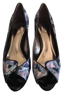 Carlos by Carlos Santana Floral Satin Patent Leather Platforms