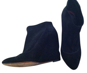 Moschino Wedge Suede Black Boots