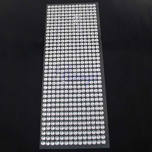 5 Sheets - Silver Chrome Bling Bling 2520pcs - 6mm Self Adhesive Rhinestone Crystal Bling Stickers Round Centerpieces