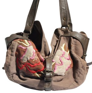 Anthropologie Embroidered Hobo Bag