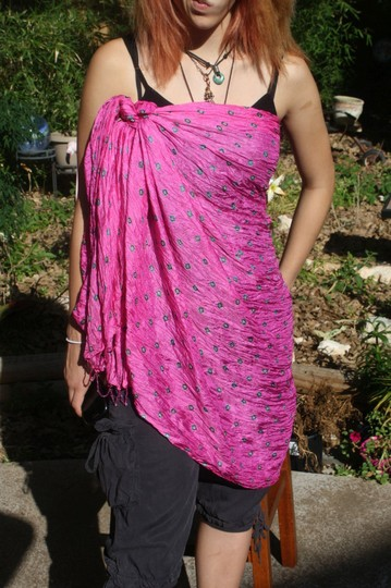 Handmade SILK HANDMADE SCARF/BATHING SUIT COVER UP DIRECT FROM INDIA (PICK A COLOR)