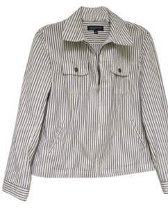 Jones New York brown/white stripes Blazer