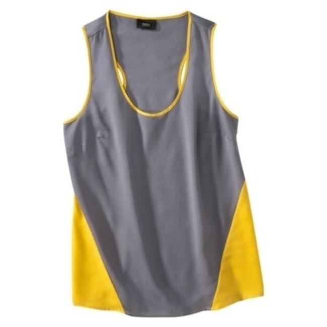 Mossimo Supply Co. Top grey and yellow