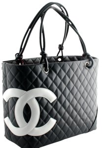 b95cbebc64a721 Chanel Classic Coco Quilted Design Supple Leather Double Knotted &rolled  Handles (8. Chanel Cambon Classic Large Shopper Black Lambskin Leather Tote
