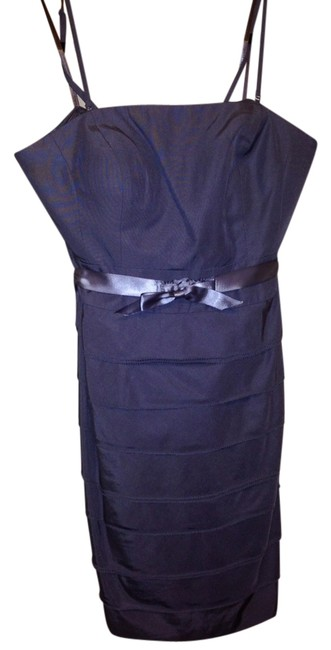 Item - Midnight Violet Tiered Strapless Above Knee Cocktail Dress Size 6 (S)
