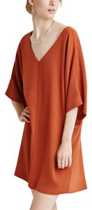 Forever 21 short dress Rust Shift Oversized V-neck Date Night on Tradesy