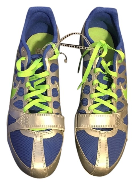Item - Blue / Green / Silver Track & Field Zoom Rival S Sneakers Size US 8.5 Regular (M, B)