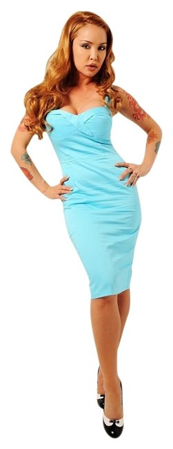 Item - Baby Blue Deadly Dames Vamp Mini Night Out Dress Size 0 (XS)