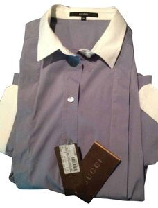 Gucci Button Down Shirt Blue/gray