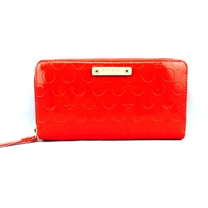 Kate Spade Kate Spade Red Patent Leather Continental Zip Wallet New